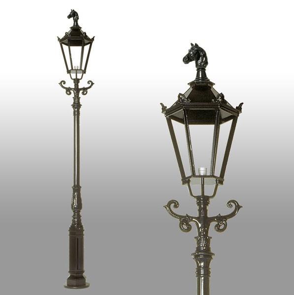 Buitenverlichting Nostalgisch Klassiek Lantaarnpaal Bloemendaal - 350 cm