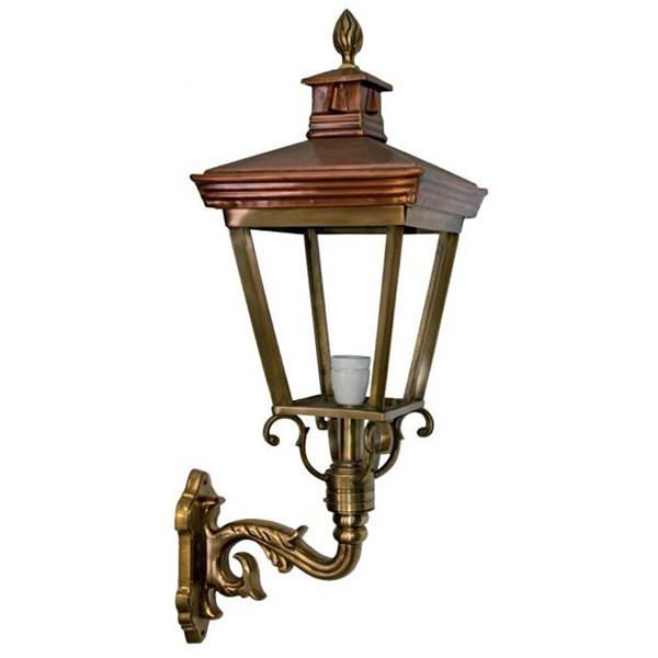 Buitenlamp Leusden brons - 78 cm