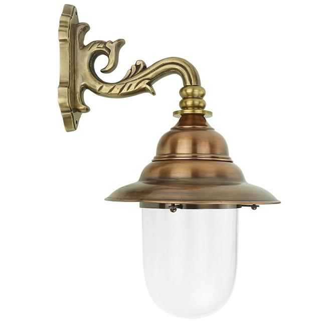 Buitenverlichting Nostalgisch Klassiek Franse stallamp Moerdijk brons - 53 cm