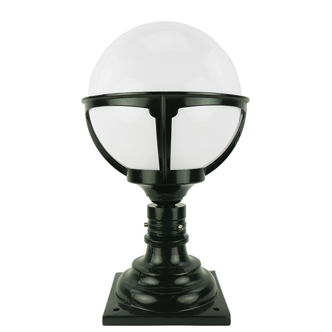 Buitenverlichting Nostalgisch Klassiek Tuinlamp Tiel Opaal bol - 45 cm