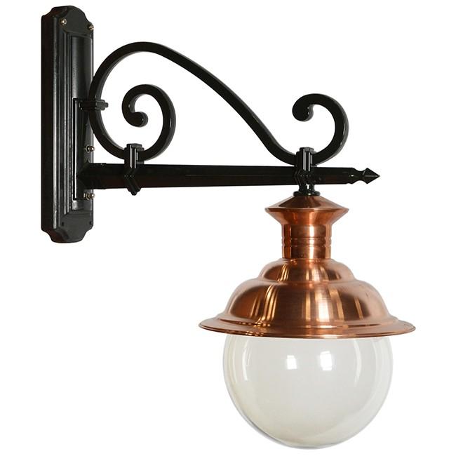 Buitenverlichting Nostalgisch Klassiek Wandlamp Weesp bol - 85 cm