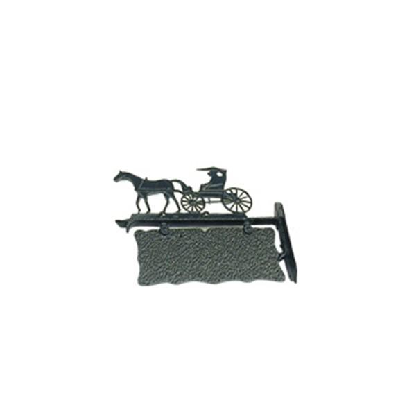 Geveldecoratie Nostalgisch Klassiek Naambord Paard & Wagen aluminium - 39 cm