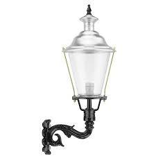 Buitenverlichting Nostalgisch Klassiek Wandlamp Langerak aluminium - 75 cm