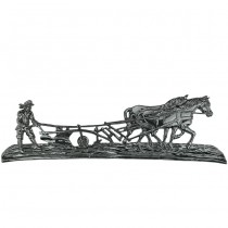 Boer met ploeg wandornament XL - 174 cm