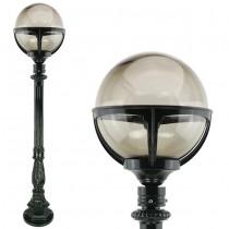 Buitenverlichting Nostalgisch Klassiek Tuinlantaarn Gennep Rookglas bol - 124 cm