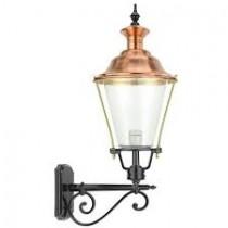 Buitenverlichting Nostalgisch Landelijk Schutting lantaarn Kijkduin Koper - 80 cm