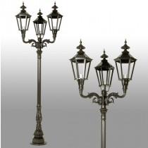 Buitenverlichting Nostalgisch Klassiek Buitenlantaarn Heerenveen 3-lichts - 315 cm