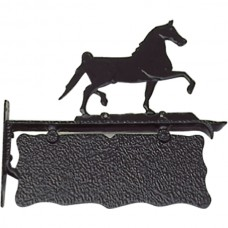 Naambord paard aluminium - 45 cm