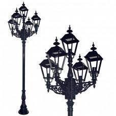 Buitenverlichting Nostalgisch Klassiek Straatlantaarn Amsterdam 5-lichts - 320 cm