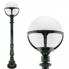 Buitenverlichting Nostalgisch Klassiek Buitenlamp Opmeer Opaal bol - 124 cm
