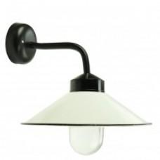 Buitenverlichting Landelijk Nostalgisch Boerderijlamp emaille deksel - 35 cm