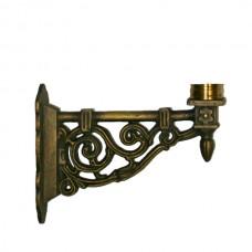 Buitenverlichting Nostalgisch Klassiek Muurarm Baarschot WA05 brons - 25 cm