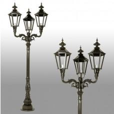Buitenverlichting Nostalgisch Klassiek Straatlantaarn Castricum 3-lichts - 275 cm
