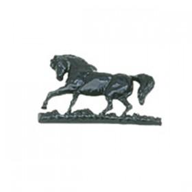 Paard wandornament aluminium - 37 cm