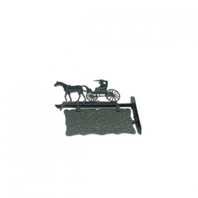 Naambord Paard & Wagen aluminium - 39 cm